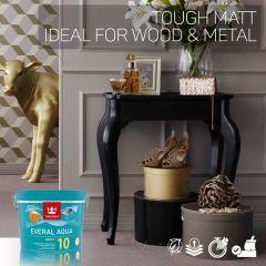 Tikkurila Everal Aqua 10 Tough Matt for Wood & Metal - Colour Match