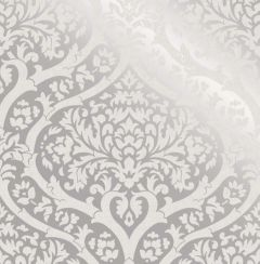 Sandringham Damask Pattern Wallpaper Silver