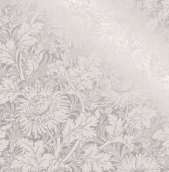 Sandringham Floral Metallic Wallpaper Silver