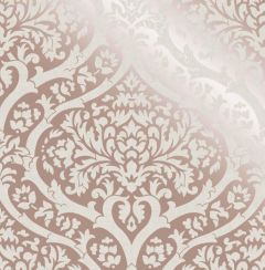 Sandringham Damask Pattern Wallpaper Rose Gold