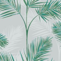 South Beach Exotic Palm Leaf Wallpaper Grey