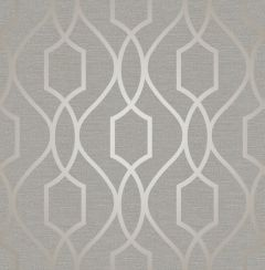Apex Trellis Metallic Wallpaper Taupe & Grey