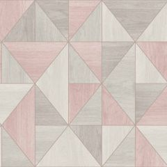 Apex Wood Panel Wallpaper Dusky Pink & Rose Gold