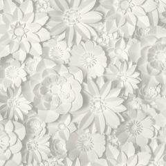 Dimensions Floral 3D Wallpaper White/Grey