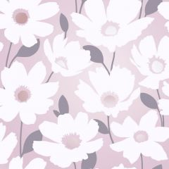 Mia Floral Metallic Wallpaper Pink