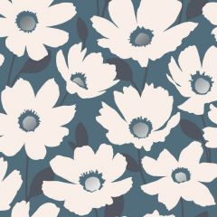 Mia Floral Metallic Wallpaper Blue