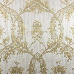 Milano Textured Glitter Damask Wallpaper Gold