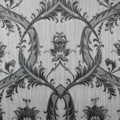 Milano Textured Glitter Damask Wallpaper Black & Grey