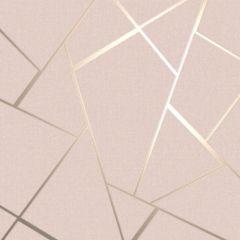 Quartz Fractal Wallpaper Blush / Gold