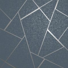Quartz Fractal Wallpaper Navy & Silver