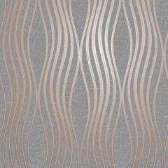 Quartz Wave Glitter Wallpaper Copper