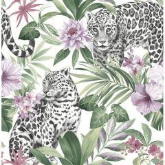 Tropica Leopard Purple Wallpaper