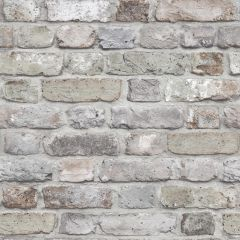 Facade Brick Wallpaper Grey, a realistic brick wallpaper in grey tones.