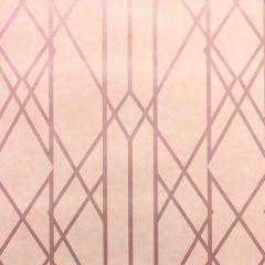Gemini Lattice Metallic Blush Pink & Rose Gold Wallpaper