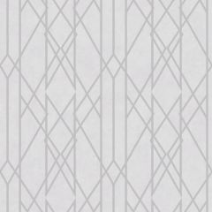 Gemini Lattice Metallic Grey & Silver Wallpaper