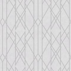 Gemini Lattice Metallic Wallpaper-White