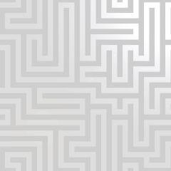 Glistening Maze Wallpaper - Grey