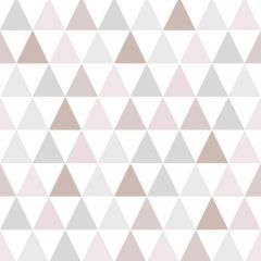 Tarek Geo Triangle Wallpaper Rose Gold