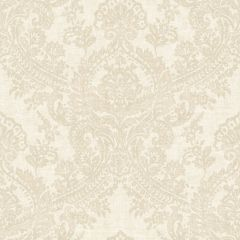 Batik Glittering Grand Damask Wallpaper Cream