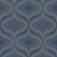 Nuevo Metallic Geo Wallpaper Navy