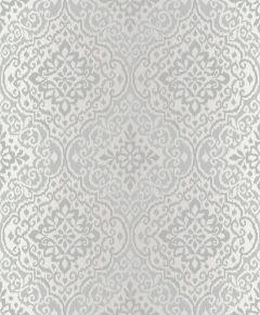Delphi Glitter Damask Wallpaper-Silver