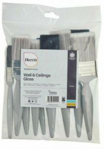 Harris Essentials Wall & Ceilings Gloss No Loss Brush Set (10 Pack)