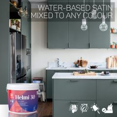 Tikkurila Helmi 30 Water-Based Satin for Woodwork - Colour Match