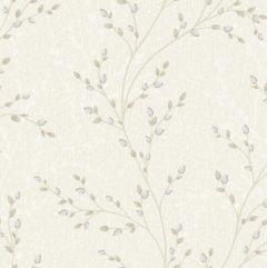 Amelio Jewel Flower Trail Wallpaper Cream