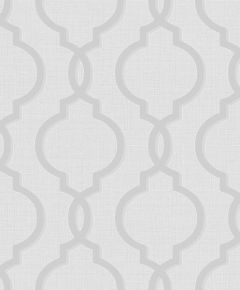Laticia Glitter Trellis Wallpaper Silver