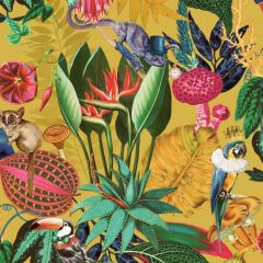 Wonderland Jungle Wallpaper Ochre