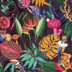 Wonderland Jungle Wallpaper Plum