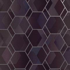 Asik Geo Wallpaper Purple/Silver
