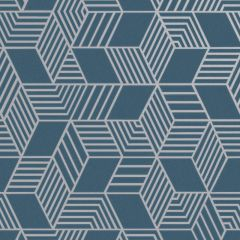 Astonia Geometric Stripe Wallpaper-Blue