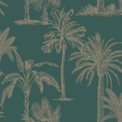 Glistening Tropical Tree Wallpaper Teal