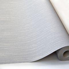 Ideco Glitz Glitter Striped Pattern Wallpaper Silver