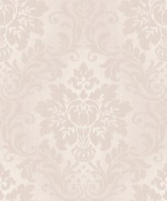 Fabric Damask Glitter Wallpaper Blush