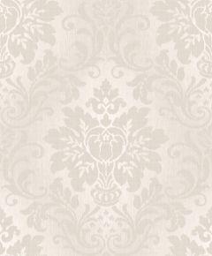 Fabric Damask Glitter Wallpaper Taupe
