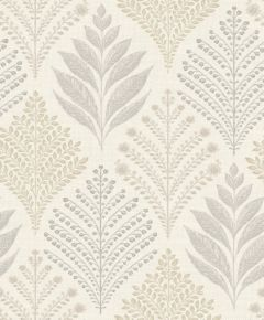 Rowan Ash Leaf Print Wallpaper Neutral