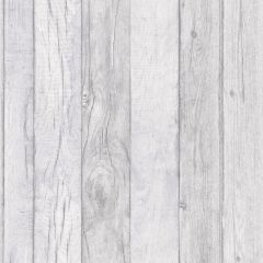 Wood Panelling Effect Wallpaper Grey
