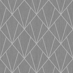 Indra Geometric Wallpaper Charcoal