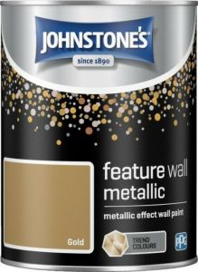 Metallic Feature Wall Paint 1.25L Gold