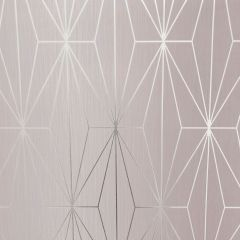 Kayla Metallic Geometric Wallpaper