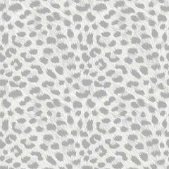 Leopard Animal Print Metallic Wallpaper Silver