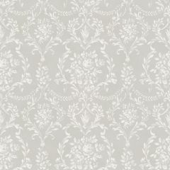 Little Florals Rose Damask Wallpaper Dove Grey