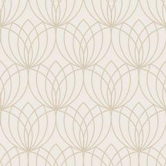 Lotus Flower Metallic Wallpaper Gold