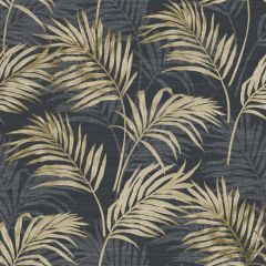 Grandeco Palm Leaf All-Over Wallpaper - Black
