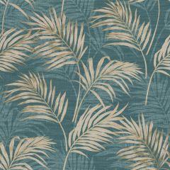 Grandeco Palm Leaf All-Over Wallpaper - Teal