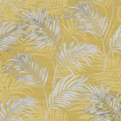 Grandeco Palm Leaf All-Over Wallpaper - Ochre