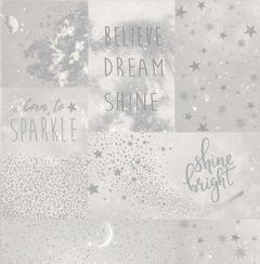 Love to Shine Collage Star Wallpaper Silver
