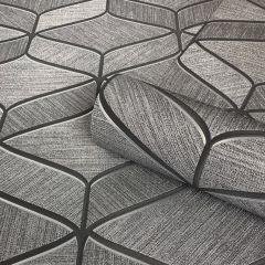 Luciano Pattern Charcoal Wallpaper
